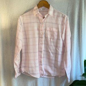 Classic Elegance pink long sleeve blouse